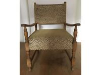 Leopard refurbished armchair