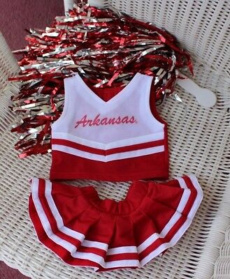 MCM Group University of Arkansas Teddy Bear Doll Dog Cheerleader Outfit Dress](Dog Cheerleader Outfit)
