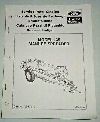 New Holland 135 Manure Spreader Parts Catalog Manual Book Nh Oem