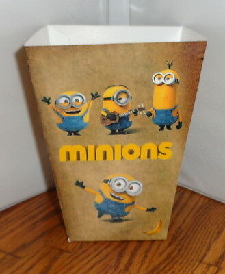 Minions Popcorn Box 1. Disneyland Cartoons.....free Shipping