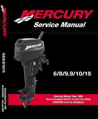 Mercury Outboard Motor 6 hp 8 hp 9.9 hp 10 hp 15 hp 2-stroke service manual