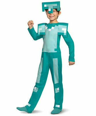 Minecraft Kids Costume (Minecraft Armor Costume S L Halloween Kids Child Boy)