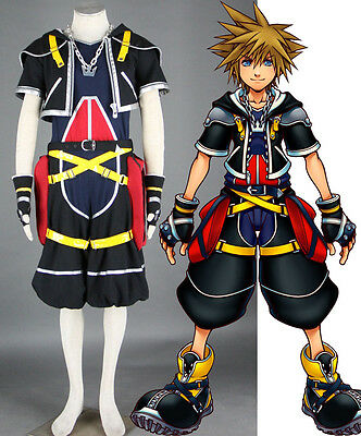 Kingdom Hearts Roxas Sora Cosplay costume Kostüm Kleidung set top neu - Roxas Kingdom Hearts Kostüm