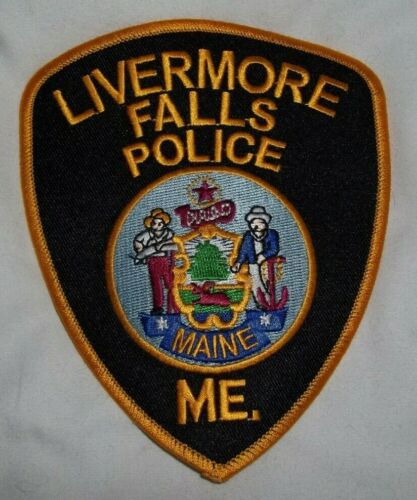 NEW Embroidered Uniform Patch LIVERMORE FALL POLICE MAINE logo   NOS