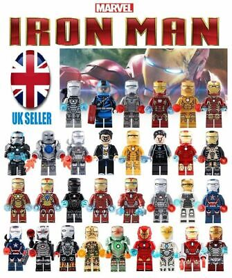 MARVEL IRON MAN & VILLAIN set - AVENGERS INFINITY WAR - fits lego figure
