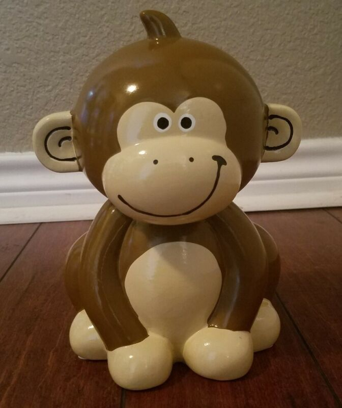 Ceramic Monkey Bank FAB Starpoint New York Piggy Bank