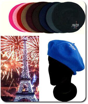 Pariser Beret Französische Mütze Wolle Wollmütze Eifeltum Hut (Baskenmütze Französische Mütze)