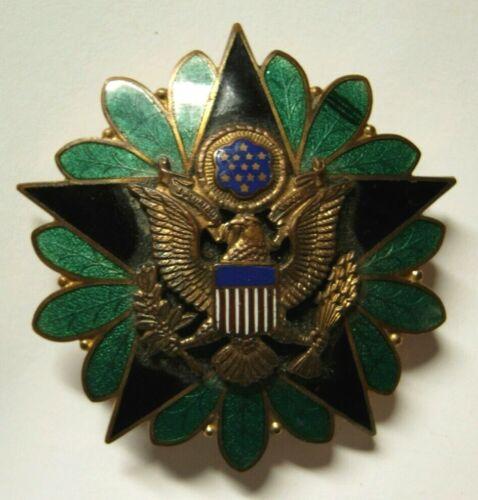 "WW2 War Department General Staff Enameled Pocket Badge - N.S. Meyer Inc - ""LEH"""
