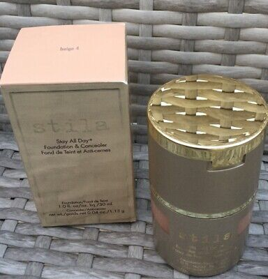 Stila Stay All Day Foundation & Concealer Beige 4 New In Box...