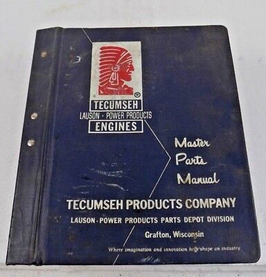 Tecumseh - Lauson - Power Products Engines - Master Parts Manual - 60s