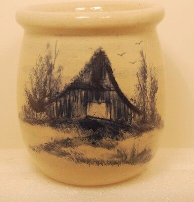 Vintage P. R. Stonie Pottery Crock