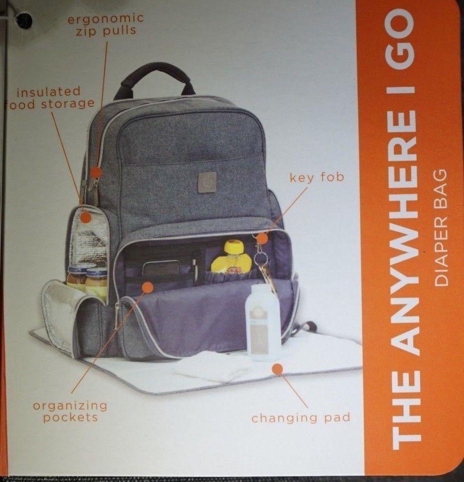 158b96e951f Ergobaby Anywhere I Go Backpack Diaper Bag - Grey Model 25014472 for ...