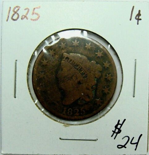 1825 CLASSIC HEAD LARGE CENT NICE TYPE COIN