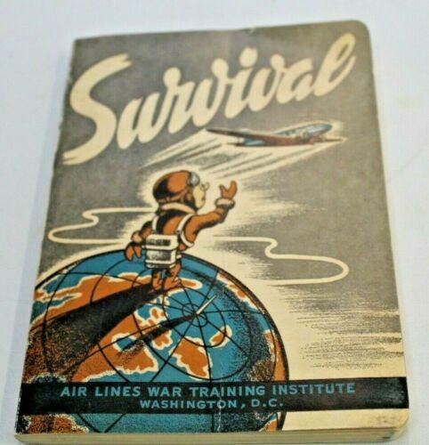 SURVIVAL 1943 Airlines War Training Institute Manual Emergency VINTAGE WWII Era