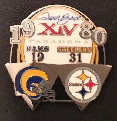 Super Bowl 14 Final Score Pin Steelers Vs Rams Pdi