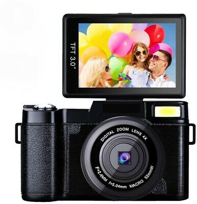 1080P 24.0MP Video Digital Camera Camcorder 3.0 Inch Flip Screen Vlogging
