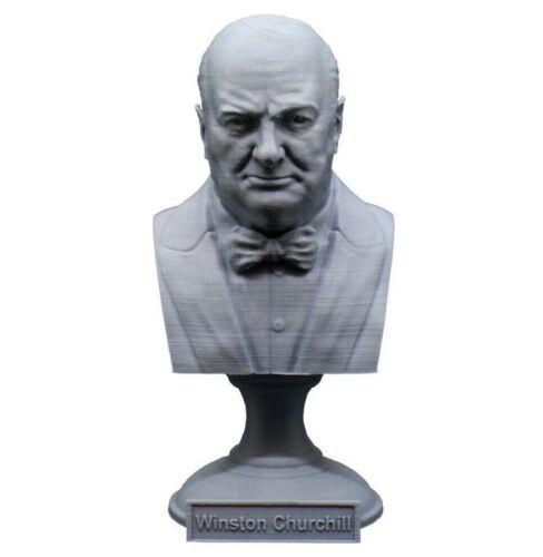 Winston Churchill 5 inch 3D Printed Bust British Prime Minister Art FREE SHIP