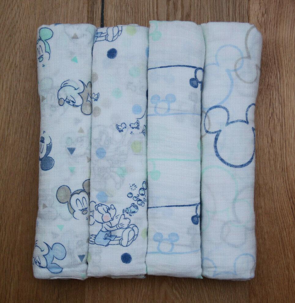 Aden Anais Baby Boy Disney Swaddle Blanket ~Mickey Bubble ~M