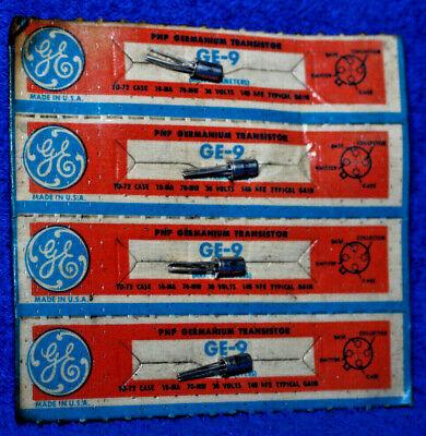 4x Ge-9 Pnp Germanium Transistors. New Old Stock. H3