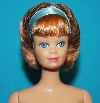 Bendable Leg MIDGE! Vintage Barbie Reproduction NUDE Titian w Headband & Hairnet