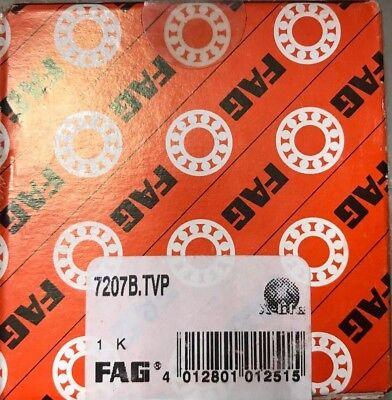 7207b-tvp Fag Angular Contact Ball Bearing Single Row Open 40 Contact