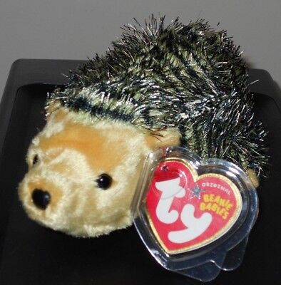 TY Beanie Baby - CHUCKLES the Hedgehog  - MWMTs Stuffed Anim