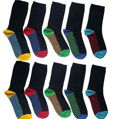 10 Pairs kids socks BOYS/KIDS/CHILDREN'S COTTON RICH SCHOOL  COLOUR HEAL GHFRDC