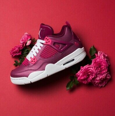 Nike Air Jordan 4 Retro GS True Berry Rush Pink White kids shoes 487724-661 sz6