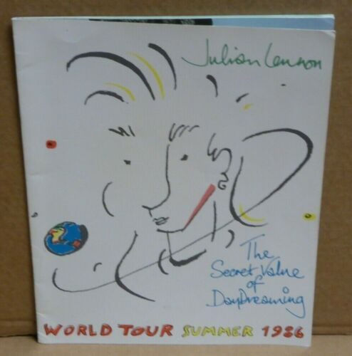 Julian Lennon The Secret Value of Daydreaming 1986 tour book concert program