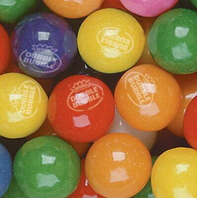 850 Dubble Bubble Tropical Fruit 24mm Gum Balls Approx. 1 Vending Gumballs