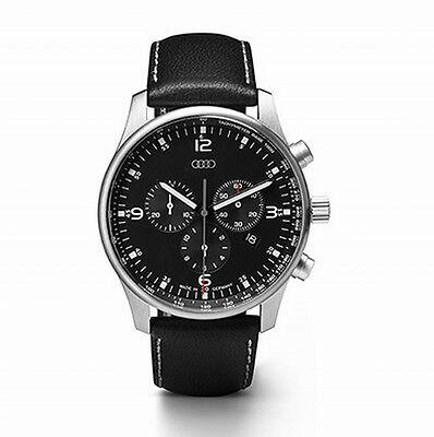 Audi Chronograph / Uhr schwarz/silber, Audi Herrenuhr, Schweizer Uhrwerk NEU/OVP
