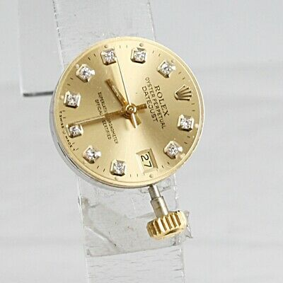 SWISS MADE ROLEX Cal 2030 DATEJUST Ladies 26 Jewels Automatic Movement Dia dial
