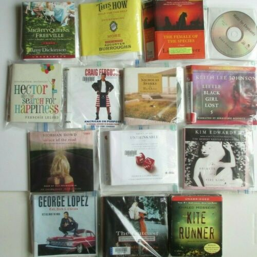 Lot of 14 CD Audiobooks Sparks Dickinson Burroughs Gruen Edwards Hossini Jones