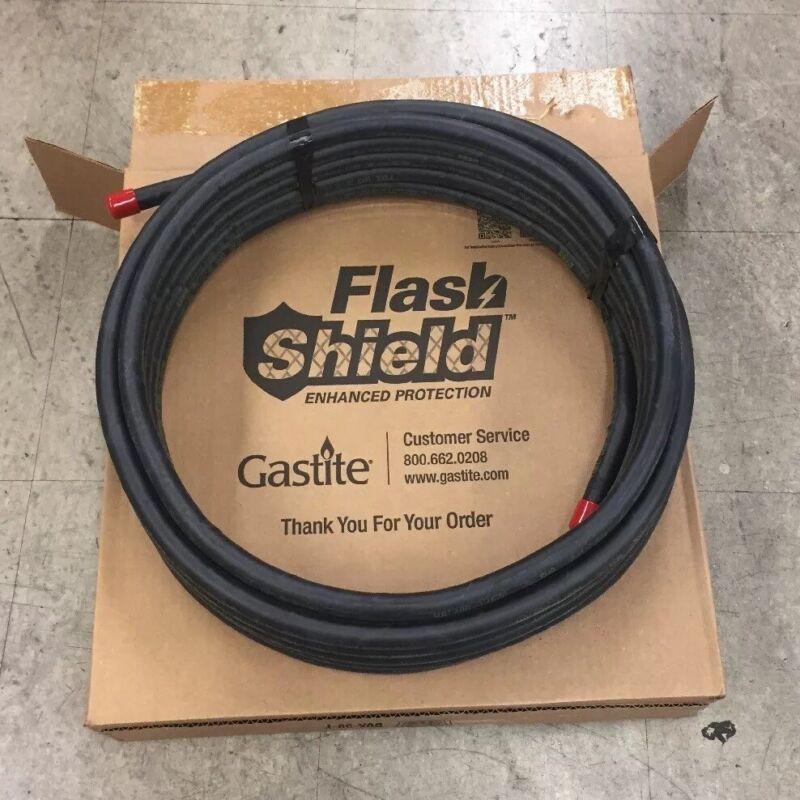 "FLASH SHIELD METALLICALLY SHIELDED FLEXIBLE GAS PIPE 1/2"", 50"