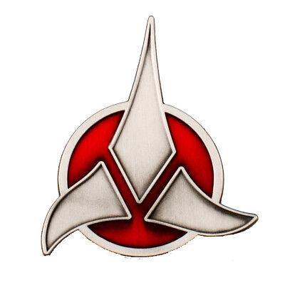 Klingonen Logo - Uniform Abzeichen Badge Pin Magnet - Star Trek Replica neu ovp. Star Trek Abzeichen