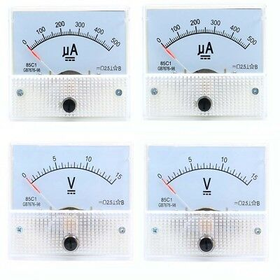 50ua-30a Dc Ammeter 5v-300v Dcac Voltmeter 85c185l1 Analog Panel Meter 6556mm
