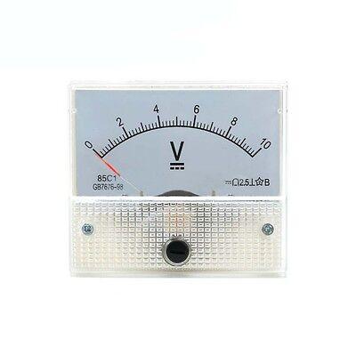 New 0-10v Dc Voltmeter 85c1 Analog Voltage Panel Meter Volt Table 6556mm