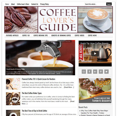 Coffee Lovers Turnkey Website Business For Sale W Auto Content Updates