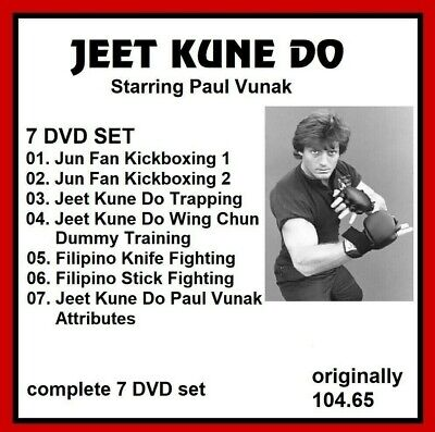JEET KUNE DO 7 DVD SET PAUL VANUK JKD gung fu dummy mma   panther productions