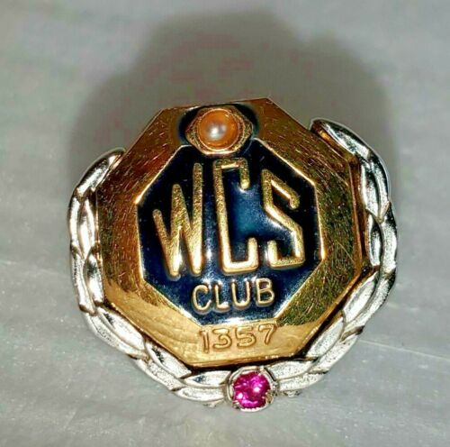Vtg Combined Insurance Co. of America WCS Club 10K Gold GF + Sterling Lapel Pin