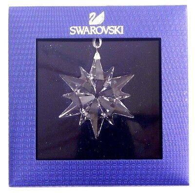 LITTLE STAR 2017 CHRISTMAS ORNAMENT CLEAR SNOWFLAKE SWAROVSKI CRYSTAL   5257592