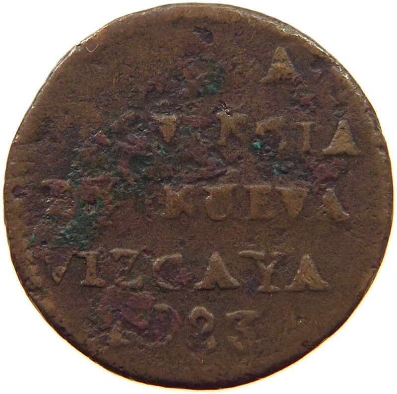 MEXICO 1/8 REAL 1823  NUEVA VIZCAYA ITURBIDE RARE #t81 709