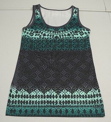 Reebok Womens M Green Polyester Blend Wicking Athletic Tank Top NWOTs