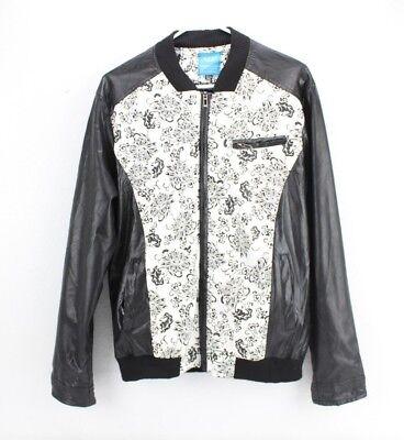 Dubucurasho DDSI Best Fashion Womens Biker Jacket XXL Flowers Black