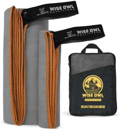 Wise Owl Outfitters Camping Travel Towel - Ultra Soft Compact Quick Dry Microfib