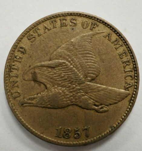 1857 Flying Eagle One Cent 1c #55