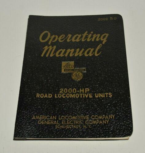 Nice 1948 Vintage Operating Manual 2000-HP Road Locomotive Units Trains Rare