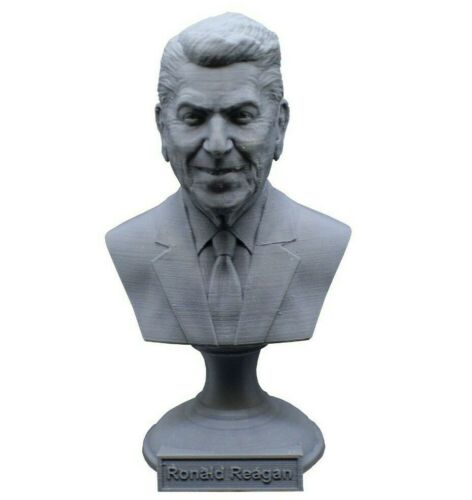 Ronald Reagan 5 inch 3D Printed Bust USA President #40 Art FREE SHIPPING