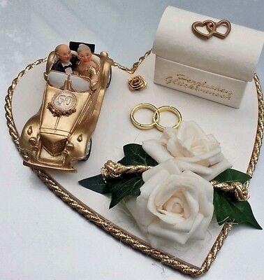 Geldgeschenk goldene Hochzeit 50 Jahre Auto gold Eheringe Hochzeitsgeschenk