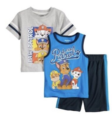 Baby Boy 3 Piece Paw Patrol Outfit Set Shirt Tank Shorts 12 Months NWT 3 Piece Shorts Outfit